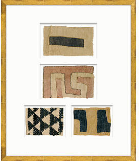 Fragments for Neiman Marcus Soicher Marin Framed African Kuba Cloth