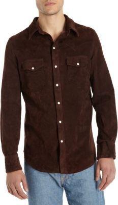 Jean Shop Suede Western Shirt