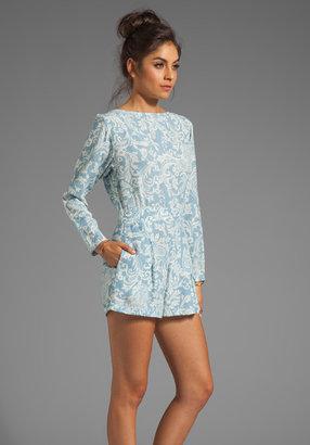 Motel Molly Long Sleeve Playsuit