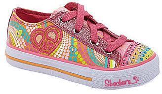 Skechers Girls' Twinkle Toes: Shuffles - Heart Sparks Casual Sneakers