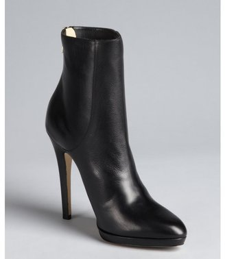 Jimmy Choo black grained leather heel zip 'Gracie' ankle boots
