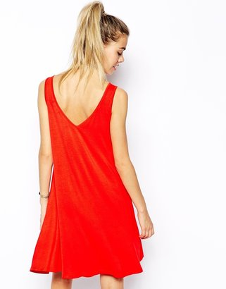 Glamorous Swing Dress with V Front and V Back
