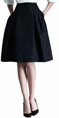 Carolina Herrera Silk Faille Party Skirt