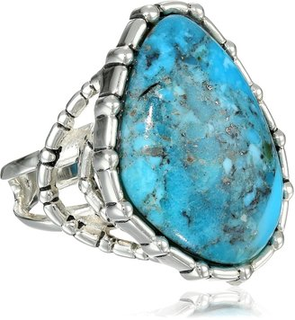 """Barse Silhouette"""" Sterling Silver Turquoise Abstract Ring Size 7"""