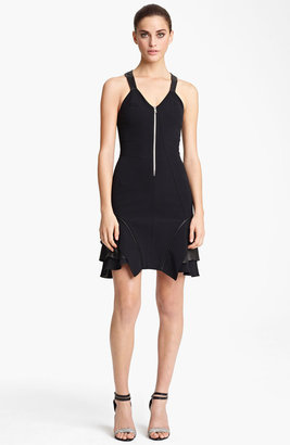 Yigal Azrou?l Crepe & Jersey Dress