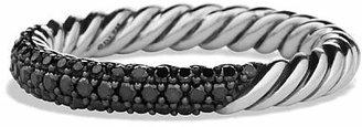 David Yurman Petite Pavé Ring with Black Diamonds