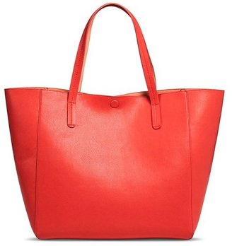 Merona Women's Reversible Tote Faux Leather Handbag $36.99 thestylecure.com