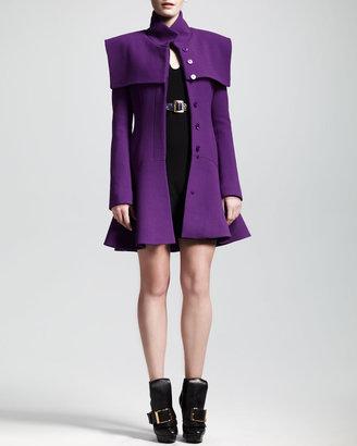 Alexander McQueen Teardrop Flounce Mini Dress