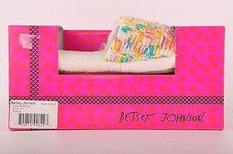 Betsey Johnson White Ivory Threads Slip on Indoor Slippers Women's L 9 10
