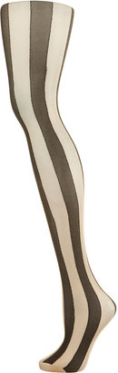 Topshop Thick Vertical Stripe Tights