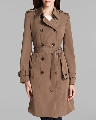 Calvin Klein Trench Coat - Double Breasted Belted $220 thestylecure.com