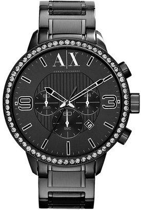 Armani Exchange Crystal Bezel Watch, 48mm