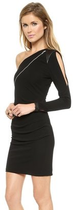 Yigal Azrouel Cut25 by One Shoulder Zip Front Dress