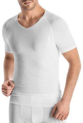 Hanro Urban Touch V-Neck Tee, White $68 thestylecure.com
