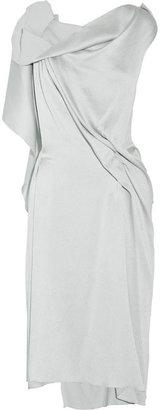 Roland Mouret Drache draped silk-blend dress