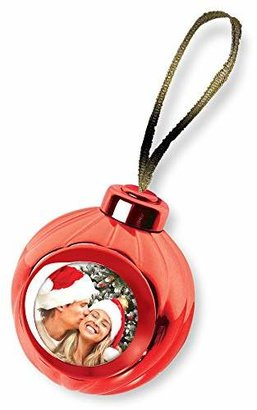 Your Own Launch Innovative Products Red Voice Recording Talking Christmas Ornament - Add Photo and Press a Button to Record and Play Back