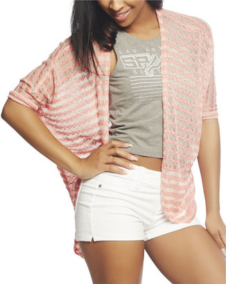 Wet Seal Stripe Crochet Cardi