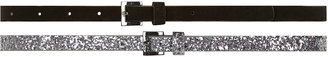 Dorothy Perkins Pack of 2 silver glitter belts