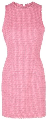 Balmain Pink Boucle Tweed Mini Dress