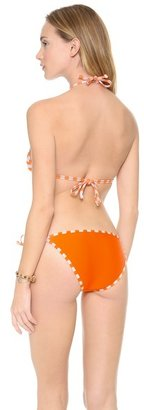 Splendid Miami Stripe Reversible Triangle Bikini Top