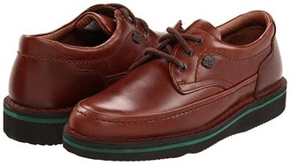 Hush Puppies Mall Walker (Black Leather) Men's Lace Up Moc Toe Shoes
