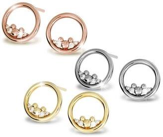 Disney Mickey Mouse Icon Diamond Post Earrings