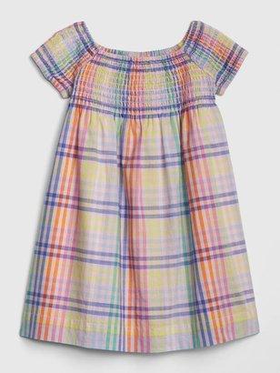 Gap Toddler Plaid Smocked Dress
