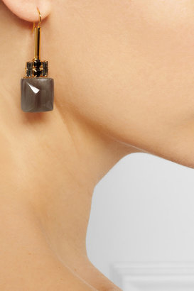 Marni Gold-tone, crystal and horn earrings