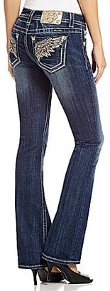 Miss Me Wing-Pocket Bootcut Jeans