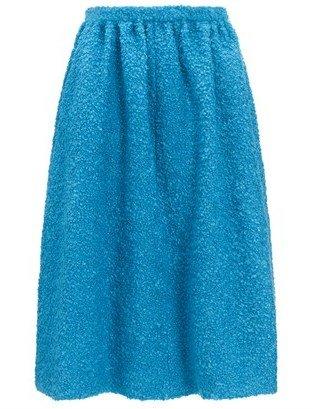 Eudon Choi Cerulean Wool Kuzma Skirt
