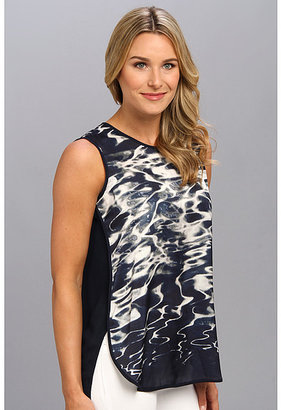 Vince Camuto S/L Reflections Shirt Tail Blouse