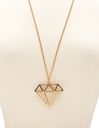Charlotte Russe Caged Diamond Pendant Necklace