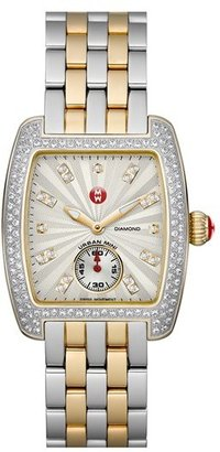 Women's Michele Urban Mini 16Mm Two-Tone Bracelet Watchband $400 thestylecure.com