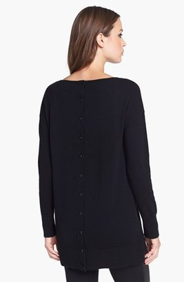 Nordstrom Button Back Cashmere Tunic