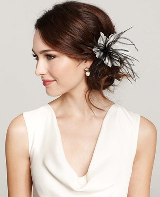 Ann Taylor Floral Feather Pin