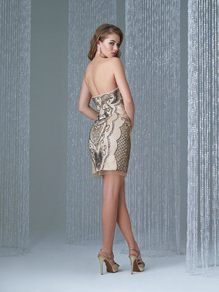Madison James - 16-350 Dress in Black Nude
