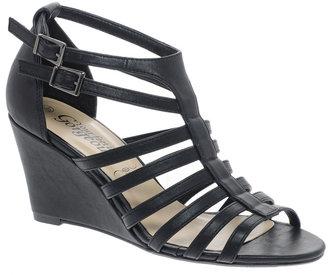 New Look Roman Gladiator Black Wedge Sandals