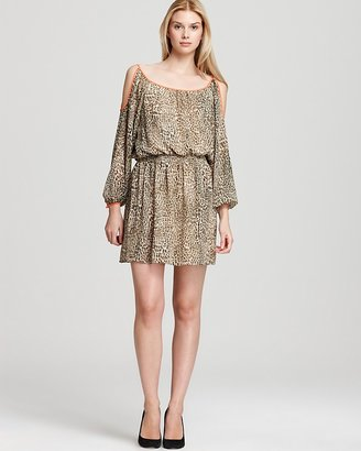 Vince Camuto Cold Shoulder Cheetah Print Dress