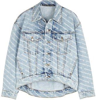 Alexander Wang Light Blue Logo-print Denim Jacket