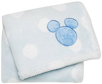 Disney Mickey Mouse Printed Embroidered Boa Blanket