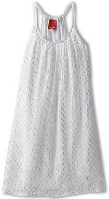 Ella Moss Tess Dress (Big Kids) (White) - Apparel