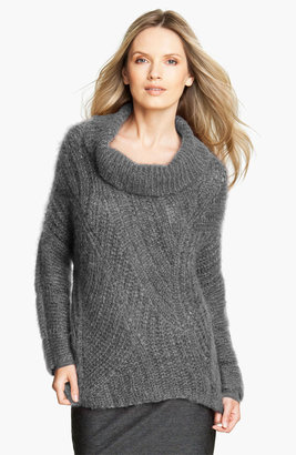 Eileen Fisher Funnel Neck Mohair Blend Sweater