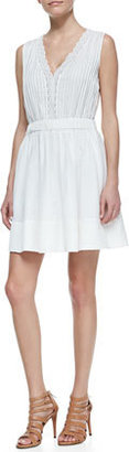 Diane von Furstenberg Shilo Sleeveless V-Neck Dress, White