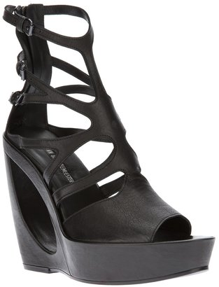 Ann Demeulemeester strappy wedge sandals