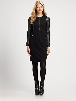 Burberry Wool/Leather Dress