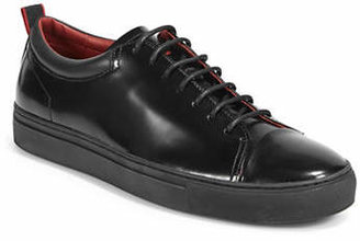 HUGO Monochrome Polished Leather Sneakers