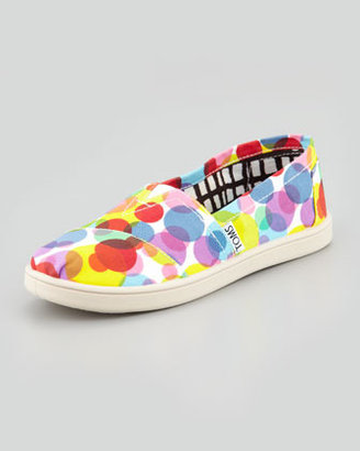 Toms Red Clea Dot Canvas Slip-On, Youth
