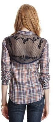 Free People Plaid Saddle Up Button Down Shirt