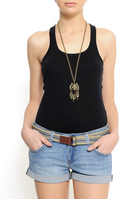 MANGO Slim-fit racerback sleeveless t-shirt