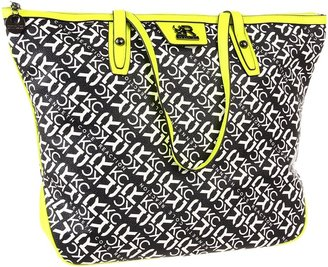 Kenneth Cole Reaction Essex Tote (Black/Bone/Yellow) - Bags and Luggage